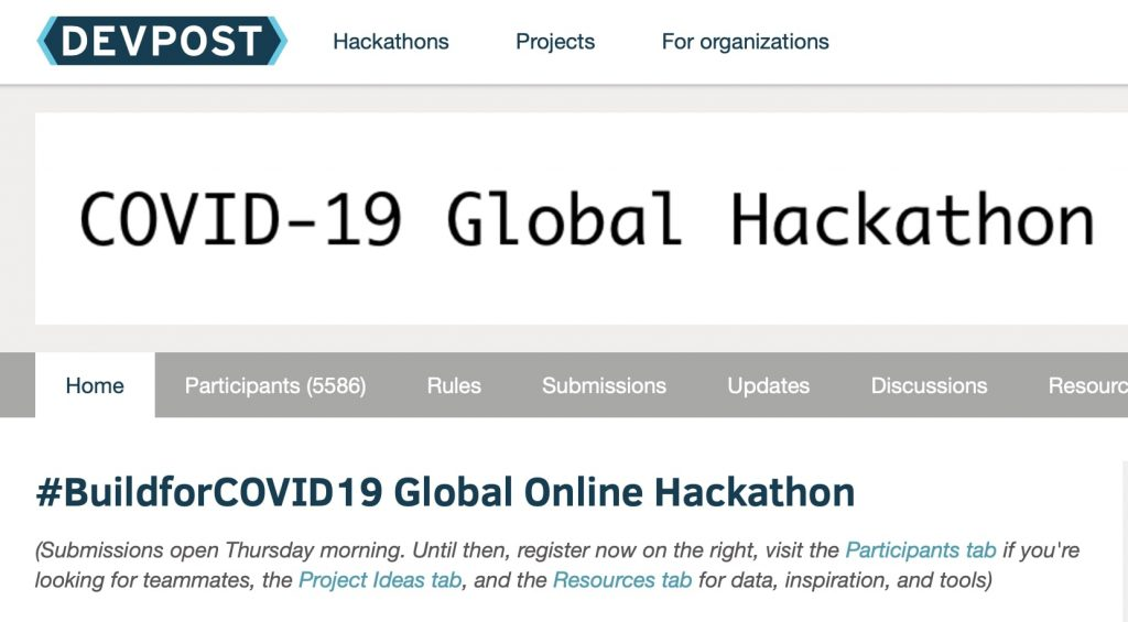 Facebook Launches The Build for COVID19 Global Online Hackathon