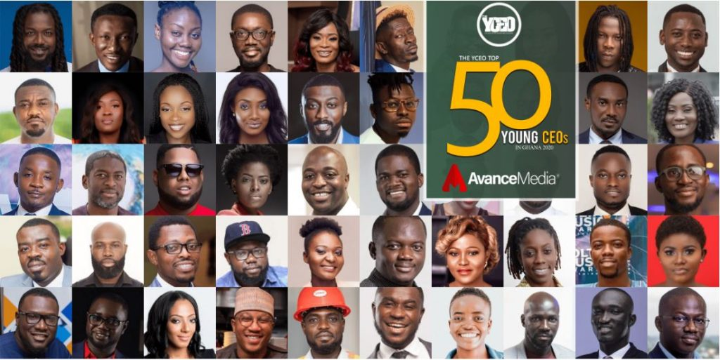 List of YCEO 50 Young CEOs in Ghana 2020